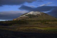 Onweer bij zonsondergang Royalty-vrije Stock Foto's