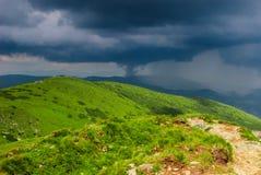 Onweer in de bergen Royalty-vrije Stock Foto