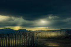 Onweer in de bergen Stock Afbeelding