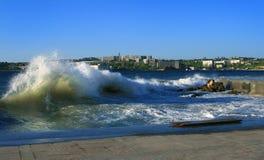 Onweer in de Krimstad van Sebastopol Royalty-vrije Stock Foto