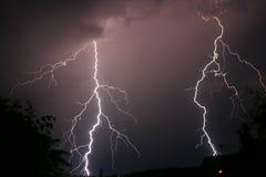 Onweer en bliksem stock foto