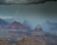 Onweer in Grand Canyon, Arizona Royalty-vrije Stock Fotografie