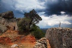 Onweer, Groot Zimbabwe Royalty-vrije Stock Foto