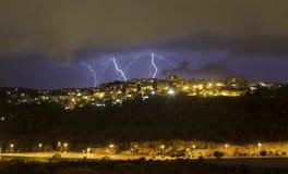 Onweer in Haifa Royalty-vrije Stock Afbeelding