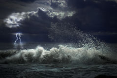 Onweer met verlichting royalty-vrije stock fotografie