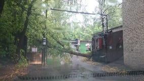 Onweer in Moskou Stock Afbeelding