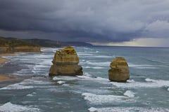 Onweer op de Grote OceaanWeg Royalty-vrije Stock Afbeeldingen