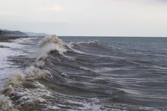 Onweer op de Zwarte Zee Royalty-vrije Stock Foto's