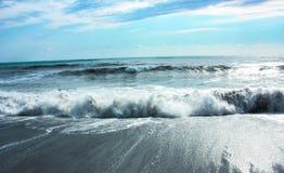 Onweer op de Zwarte Zee Stock Foto's