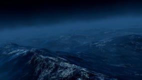 Onweer op het overzees 3d geef terug royalty-vrije illustratie