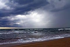 Onweer op het overzees in Forte dei Marmi Stock Afbeelding