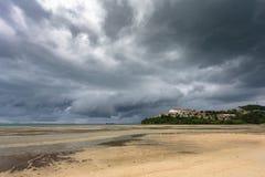 Onweer op het overzees, Phuket, Thailand Royalty-vrije Stock Fotografie