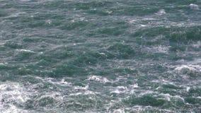 Onweer op het overzeese kokende water stock video