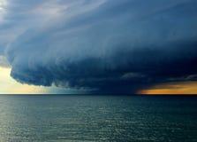 Onweer op Meer Michigan Stock Afbeelding