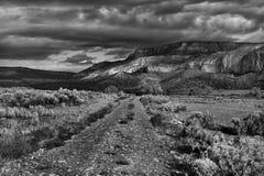 Onweer op mesa Stock Foto's