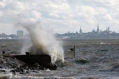 Onweer op overzees Stock Afbeelding