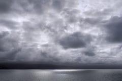 Onweer op zee Royalty-vrije Stock Foto's
