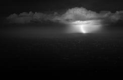 Onweer op zee Royalty-vrije Stock Afbeeldingen