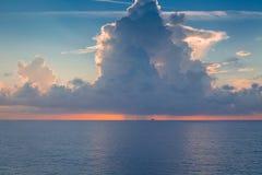 Onweer op zee Royalty-vrije Stock Foto