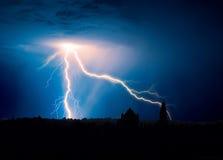 Onweer over Bethlehem Royalty-vrije Stock Foto's