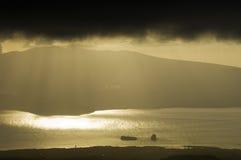 Onweer over de Azoren, Portugal Royalty-vrije Stock Foto's