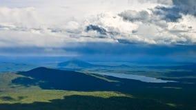 Onweer over de Cascades Stock Fotografie