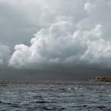 Onweer over het overzees Royalty-vrije Stock Afbeelding