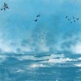 Onweer over het overzees Royalty-vrije Stock Fotografie