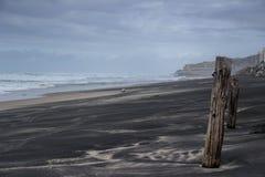 Onweer over het strand Stock Fotografie