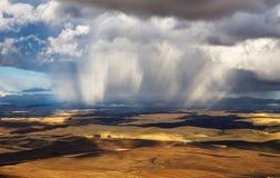 Onweer over Palouse, Washington Stock Foto
