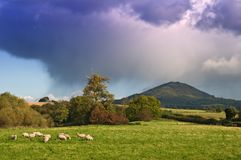 Onweer over Wrekin Royalty-vrije Stock Afbeelding