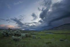 Onweer over Yellowstone Stock Foto