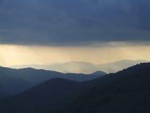 Onweer over Zuidelijk Noord-Carolina royalty-vrije stock afbeeldingen