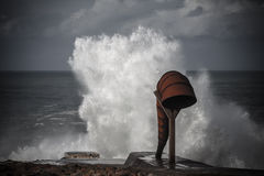 Onweer: Tijdelijke en een Coruña Stock Foto