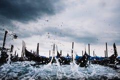 Onweer in Venetië Stock Foto's