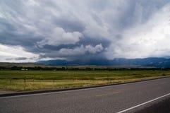 Onweer in Wyoming royalty-vrije stock foto's