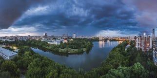 Onweer in Yekaterinburg Stock Afbeelding