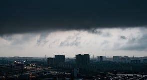 Onweers dramatische wolken Royalty-vrije Stock Foto
