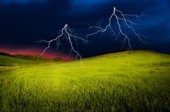 Onweersbui met bliksem Stock Afbeelding