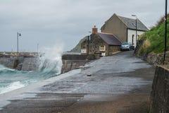 Onweersvloed in Gardenstown Royalty-vrije Stock Foto