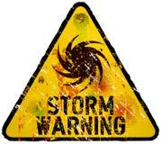 Onweerswaarschuwingsbord Stock Afbeelding