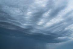 Onweerswolk voor achtergrond Stock Fotografie