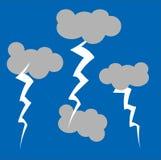 Onweerswolken vector illustratie