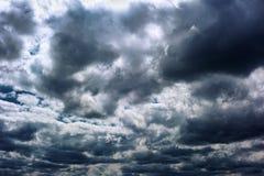 Onweerswolken Royalty-vrije Stock Afbeelding