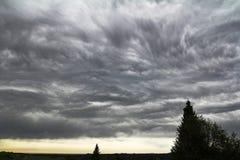 Onweerswolken in de hemel Stock Afbeeldingen