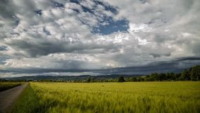 Onweerswolken die zich over een Tijdspanne van de Gebiedstijd vormen stock videobeelden
