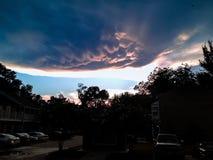 onweerswolken en zonsondergang royalty-vrije stock fotografie
