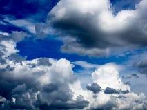 Onweerswolken in Frankrijk Stock Foto