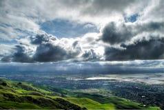 Onweerswolken HDR Royalty-vrije Stock Afbeeldingen