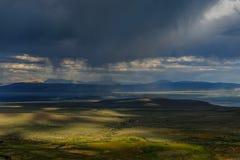 Onweerswolken over monomeer Royalty-vrije Stock Fotografie
